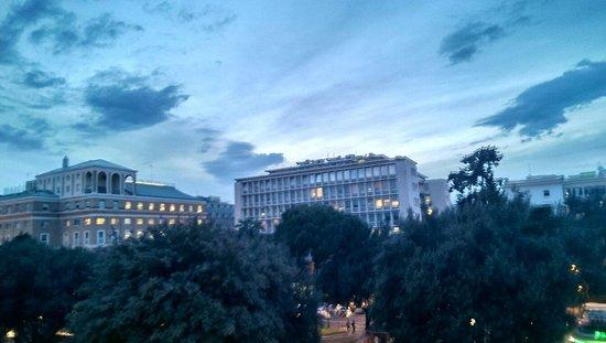 Piemonte Hotel: Dusk view from room