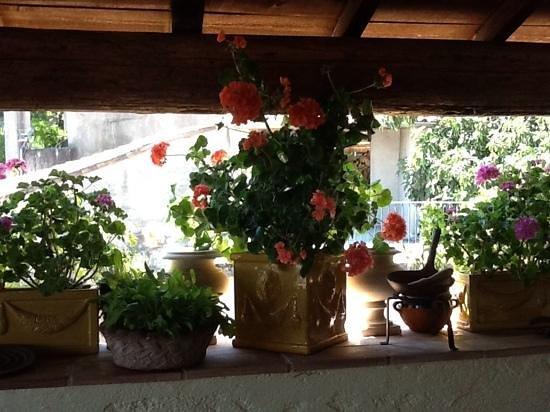 Le Conservatoire de la Fourche : Terrasse in Sauve
