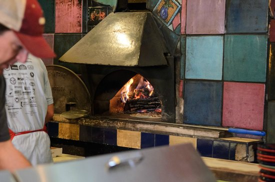 Amicas: wood fired pizza oven