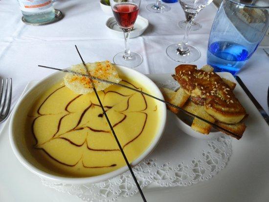 Restaurant La Marquiere: Crème de Potimarron et son foie gras poêlé