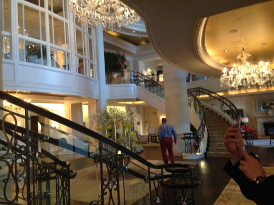The St. Regis Atlanta: The lobby and main entrance seen from inside