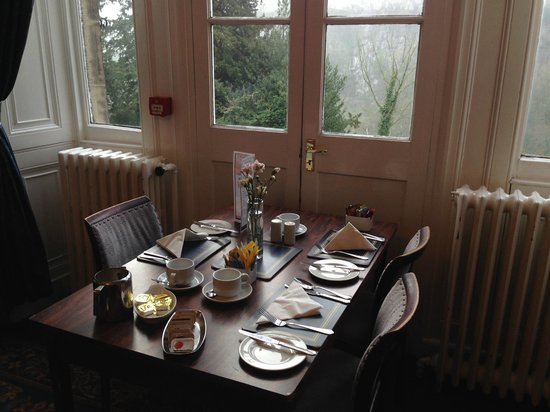 Willersley Castle Hotel: Breakfast table