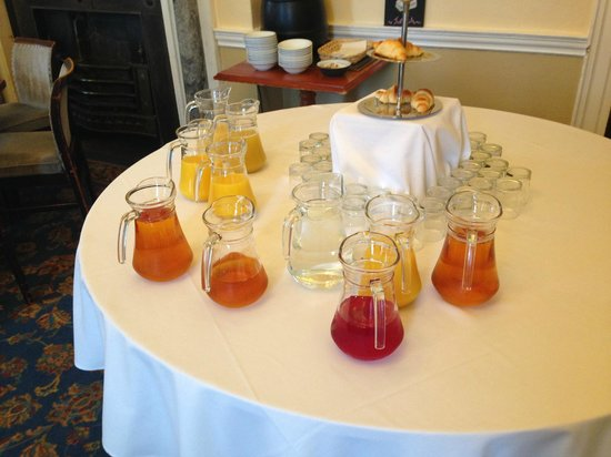 Willersley Castle Hotel: An impressive array of juices