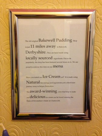 Willersley Castle Hotel: Want to know where your food comes from? Here you go.