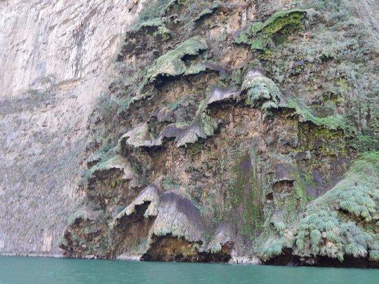 Cañón del Sumidero: interesting formations