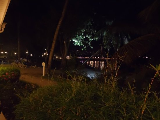 St. James's Club Morgan Bay: Night view of Morgans Pier