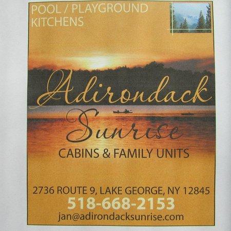 Adirondack Sunrise Motel & Cabins : Bienvenue à nos amis à travers la frontière;; voir notre annonce à la Finger Lake temps. Booking