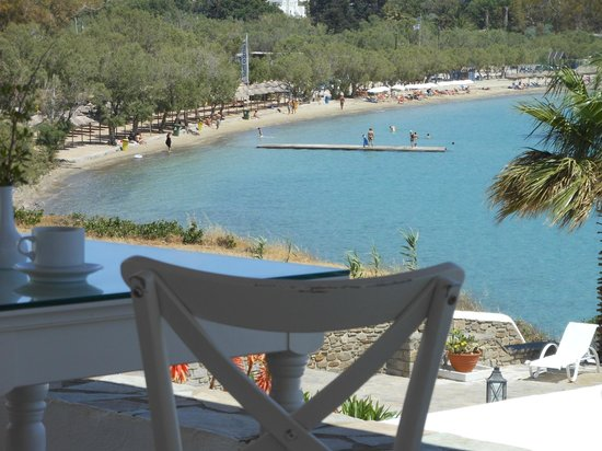 Parian Village: View of Livadia beach from breakfast area
