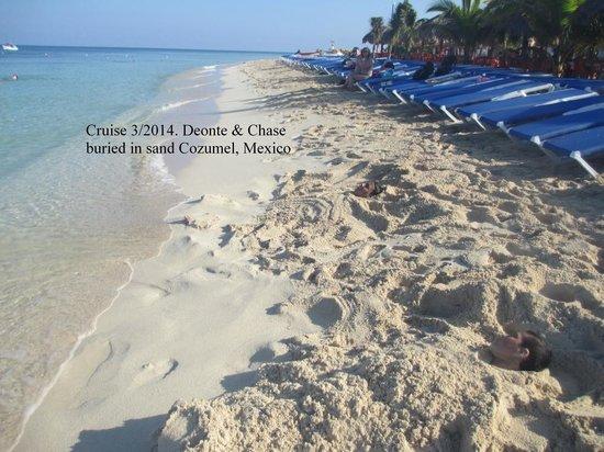 Mr Sanchos Beach Club Cozumel: sand