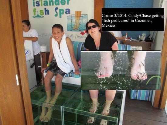 Mr Sanchos Beach Club Cozumel: pedicure