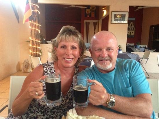 Black Forest Restaurant: Ice cold German beer, Prost!