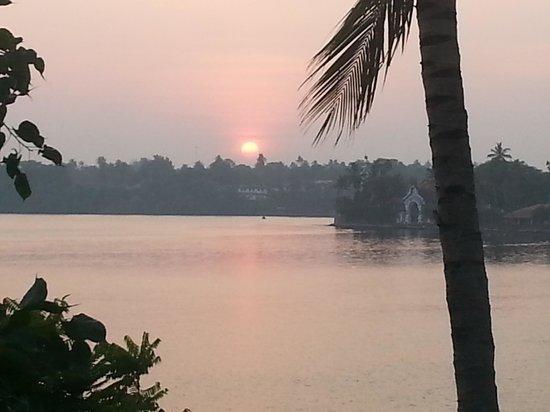 The Raviz Resort and Spa, Ashtamudi : Sunset from hotel.