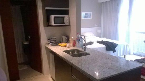 Riva Urban Lofts: Área da cozinha