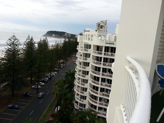 Burleigh Mediterranean Resort: View from rooftop bbq area