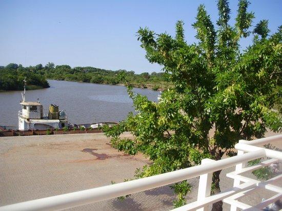 Los Muelles Boutique Hotel: vista desde el balcon