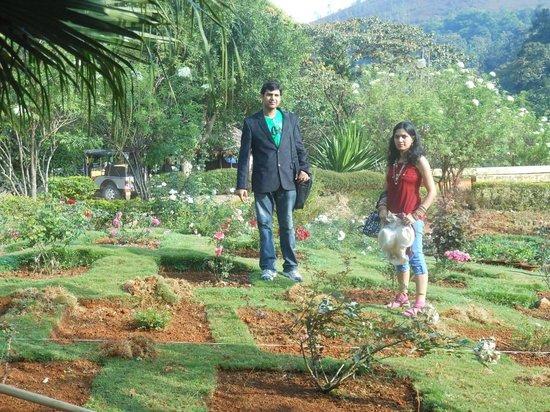 Periyar Tiger Reserve : Beautiful flower garden near lake