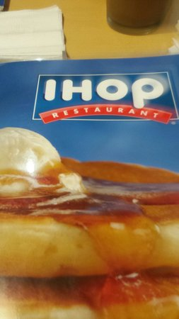 IHOP : Front of our menu.