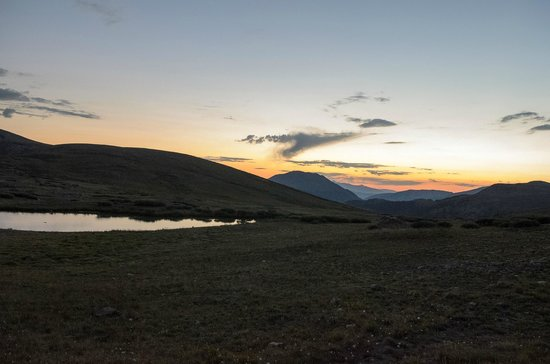 Independence Pass: At the top, just after sunset
