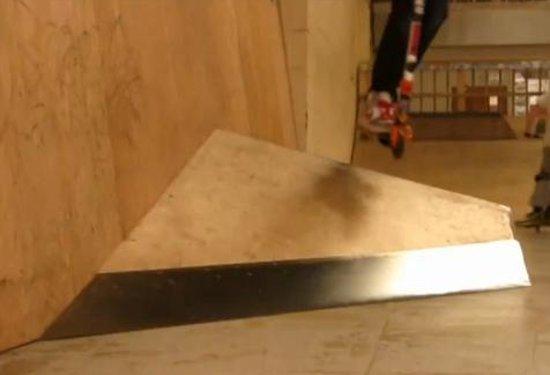 ATBShop Skate Warehouse: Tom Sherrin clearing the wallride