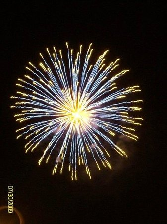 The Juliana: Fireworks - you can see them from Juliana dock