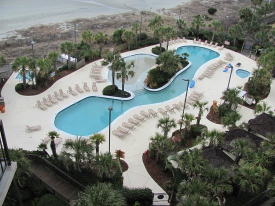 Hilton Myrtle Beach Resort: Pool and Ocean veiw from the 7th floor