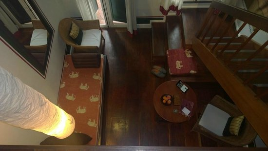 The Belle Rive Boutique Hotel: Living area on lower level