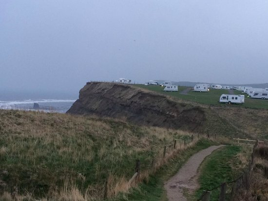 Whitby Holiday Park: Cliff top caravans
