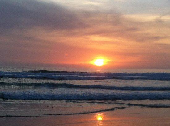 Carmel City Beach/Carmel River Beach: Sunset at Carmel Beach-March 2014