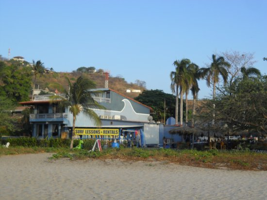 Witch's Rock Surf Camp: view of WRSC from the beach.
