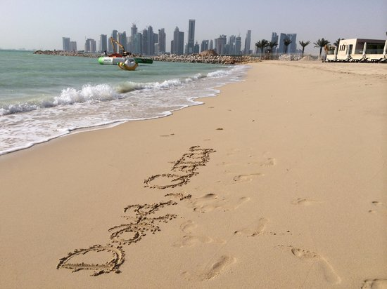 The St. Regis Doha: On the beach of the hotel.