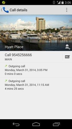 Hyatt Regency Pier Sixty-Six: Hold time