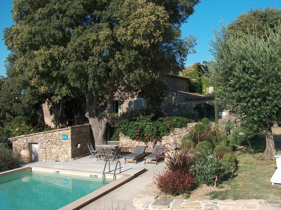 Mas d'Oleandre - Maison d'Hotes : Tuin met heerlijk zwembad