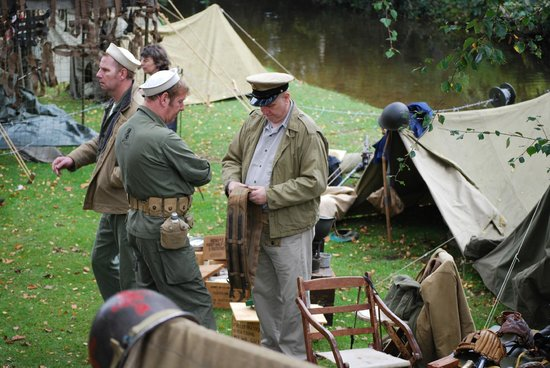 Beck Isle Museum: Setting up for war weekend