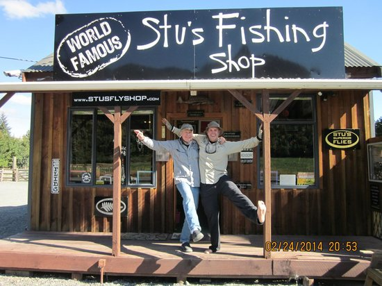 Stu's Fly Shop: Me n' Stu after a magnificent day of fly fishing!