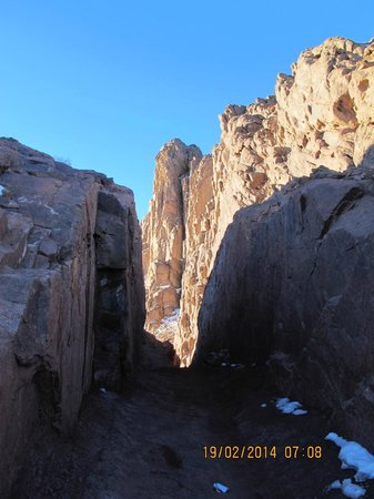 Mount Sinai: During the sun rise the wall was get magnificent red colour