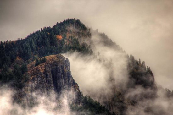 Columbia River Gorge National Scenic Area: I love the mist as it moves through the mountains.
