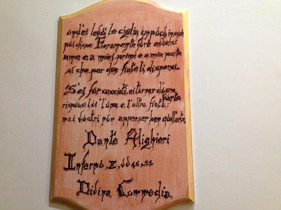 Relais Dante e Beatrice: Citazione inferno