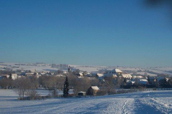 Auerstedt, Germany: Klarer Wintertag