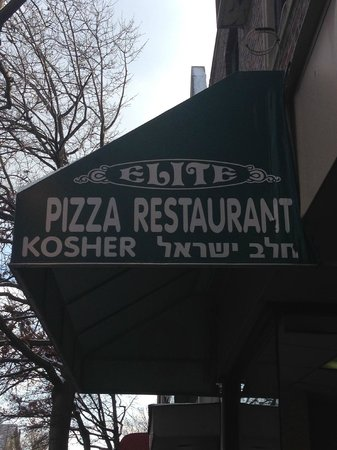Elite Pizza Sign