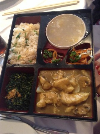 Hong Kong House Chinese Restaurant: Simple Chicken Curry Lunch Menu with Soup