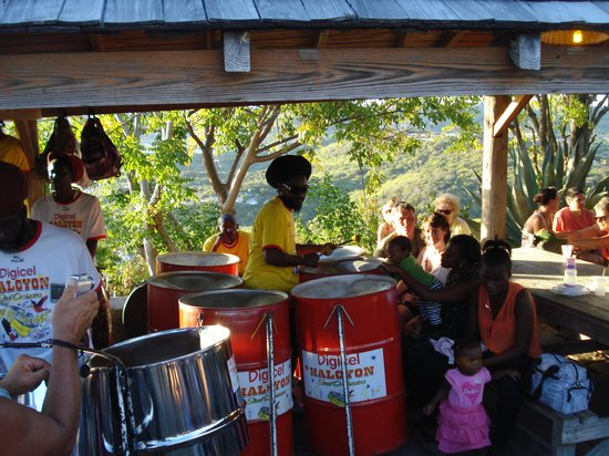 Shirley Heights Lookout : Steel Band