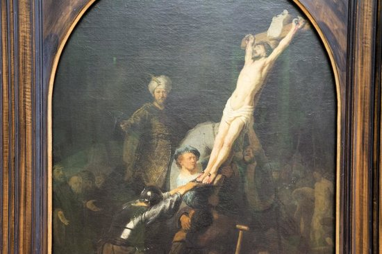 Pinacoteca Antigua: Crucifixion by Rembrandt