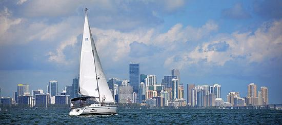 The Miami skyline seen from the sea. Peter W. Cross for VISIT FLORIDA