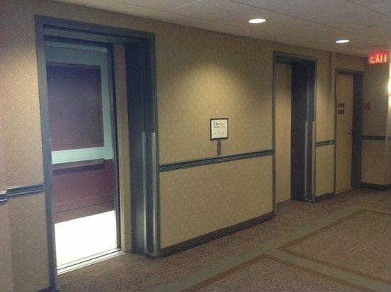 Coast Tsawwassen Inn : Elevators and landing area