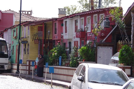 Stadtviertel Sultanahmet: Row of traditional Wooden Dwellings