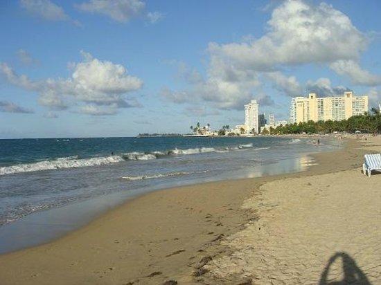 San Juan Water & Beach Club Hotel: View from beach