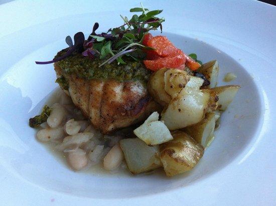 Cuttlefish restaurant Scottsdale: White Sturgeon, Truffled Sun Chokes, White Bean Fava Stew