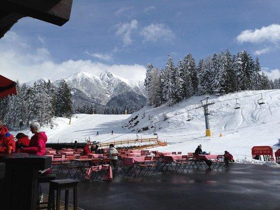 Hotel Bergland: Seefeld ski slope