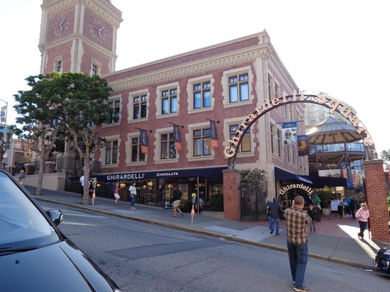 Ghirardelli Ice Cream & Chocolate Shop: From across the street.