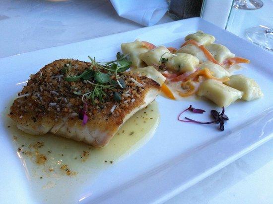 Cuttlefish restaurant Scottsdale: Wild Halibut Special with stuffed Truffled Gnocchi